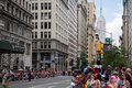 Manhattan, New York, June, 2017:people waiting for The Gay Pride Parade Royalty Free Stock Photo
