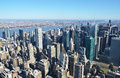 Manhattan nyc aerial view of Stock Photography