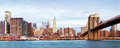 Manhattan over the river early morninig ny Royalty Free Stock Photography