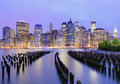 Manhattan skyline downtown Stock Image
