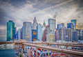 Manhattan skyline new york usa Royalty Free Stock Image