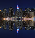 Manhattan skyline at Night Lights, New York City Royalty Free Stock Photo