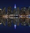 Manhattan Skyline At Night Lig...