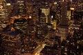 Manhattan skyscrapers at dusk Royalty Free Stock Photo