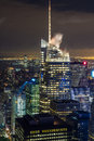 Manhattan view at night Royalty Free Stock Photo