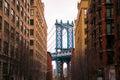 Manhatton bridge, Dumbo, New York Royalty Free Stock Photo