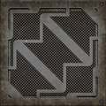Manhole cover (Seamless texture) Royalty Free Stock Photo