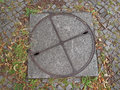 Manhole detail of a in the street Royalty Free Stock Photography