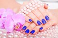 Manicure and pedicure body care spa treatments Royalty Free Stock Photos