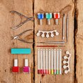 Manicure and pedicure tools Royalty Free Stock Photo