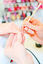 Manicure people at work in process Royalty Free Stock Images