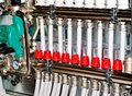 Manifold collector for heating of a floor Stock Photo