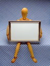 Manikin with Frame /A Royalty Free Stock Photos