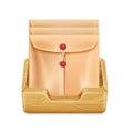 Manila folder/envelope icon in office drawer