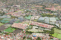 Manila suburb view from the plane philippines Royalty Free Stock Image
