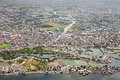 Manila suburb view from the plane philippines Stock Photography
