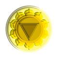 Manipura chakra icon Royalty Free Stock Photo