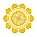 Manipura chakra isolated illustration of the Stock Photo