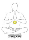 Manipura chakra representation Royalty Free Stock Photo