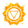 Manipura chakra symbol. Royalty Free Stock Photo