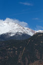 Manitou incline and pikes peak the with in the background Royalty Free Stock Images