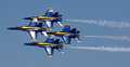 Mankato mn june us navy blue angels in f air show hornet planes perform routine on th are the Stock Photos