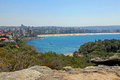 Manley beach and north head in australia Royalty Free Stock Photo