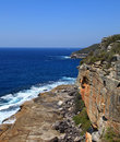 Manley beach and north head in australia Royalty Free Stock Photos