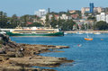 Manly ferry australia the leaving the harbour of sydney september Royalty Free Stock Image