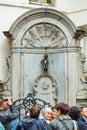 Manneken Pis sculpture in Brussels Royalty Free Stock Photo