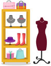 Mannequin and accessories of women Royalty Free Stock Image