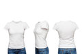 Mannequin in blank white t shirt isolated Stock Photography