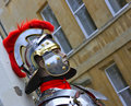 Mannequin dressed as a Roman Soldier Royalty Free Stock Image