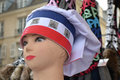 Mannequin head in gift shop, Paris. Royalty Free Stock Photo