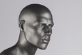 Mannequin head grey on white background Royalty Free Stock Photos