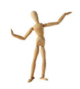 Mannequin old wooden dummy dancing thai style isolated on Royalty Free Stock Photo