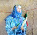Mannequin in traditional rural persian clothes Royalty Free Stock Image