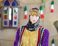 Mannequin in traditional rural persian clothes Royalty Free Stock Images