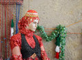 Mannequin in traditional rural persian clothes Royalty Free Stock Photos