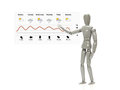 Mannequin with weather forecast Royalty Free Stock Photo