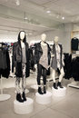 Mannequins in a clothing store dressed in edgy, punk style Royalty Free Stock Photo