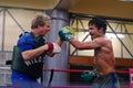 Manny Pacquiao Training Royalty Free Stock Photo