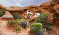 Mano arch southern panoramic composition of in devils gardern grand staircase escalante national monument utah Stock Photography