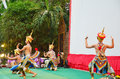 Manohra dance classical thai tune form of folk dance in the south of thailand people play show traveler at wat khanon temple Royalty Free Stock Images