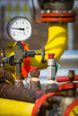 Manometer pressure on the oil and gas industry Stock Image