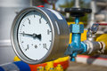 Manometer pressure on the oil and gas industry Royalty Free Stock Photography