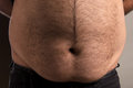 Mans big stomach image of overweight Royalty Free Stock Images