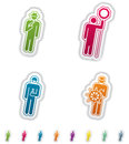 Mans occupation man s from left to right top to bottom theft lollipop man chemist sailor all icons are part of the green stickers Royalty Free Stock Photos