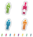 Mans occupation man s from left to right top to bottom waiter cook doctor driver all icons are part of the green stickers icons Stock Photos