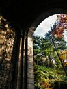Mansion on a Hill at Fort Tryon Park Royalty Free Stock Photo